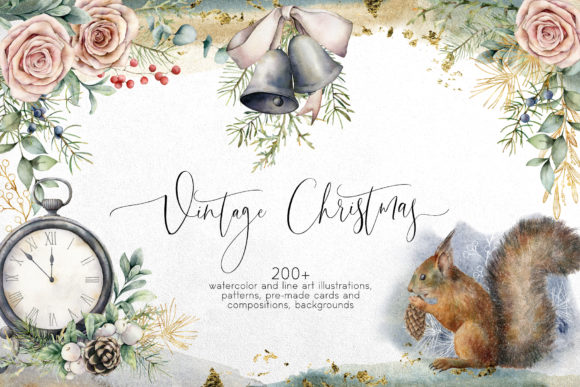 Vintage Christmas. Graphic Collection Graphic By y.derbisheva