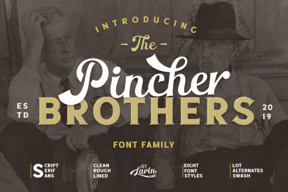 Print on Demand: The Pincher Brothers Family Display Font By Pasha Larin - Image 1