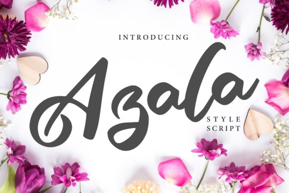 Print on Demand: Azala Script & Handwritten Font By Vunira
