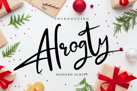 Print on Demand: Alrogty Script & Handwritten Font By Vunira
