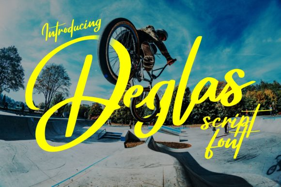 Print on Demand: Deglas Script & Handwritten Font By Vunira