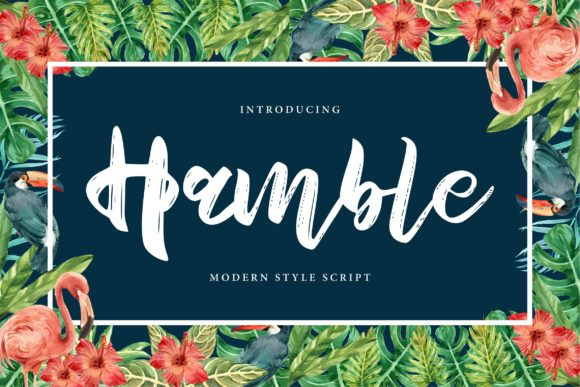 Print on Demand: Hamble Script & Handwritten Font By Vunira