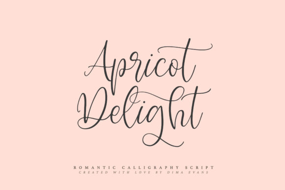 Print on Demand: Apricot Delight Script & Handwritten Font By Dmitrii Chirkov - Image 9