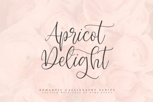 Print on Demand: Apricot Delight Script & Handwritten Font By Dmitrii Chirkov