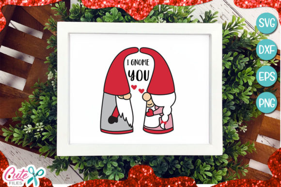 I Gnome You Svg Cut File Graphic Illustrations By Cute files - Image 1