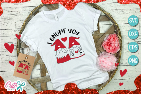 Download Free I Gnome You Couple Gnome Valentines Day Graphic By Cute Files for Cricut Explore, Silhouette and other cutting machines.