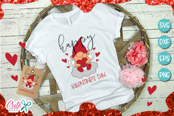 Baby Gnome Valentines Day Graphic Illustrations By Cute files