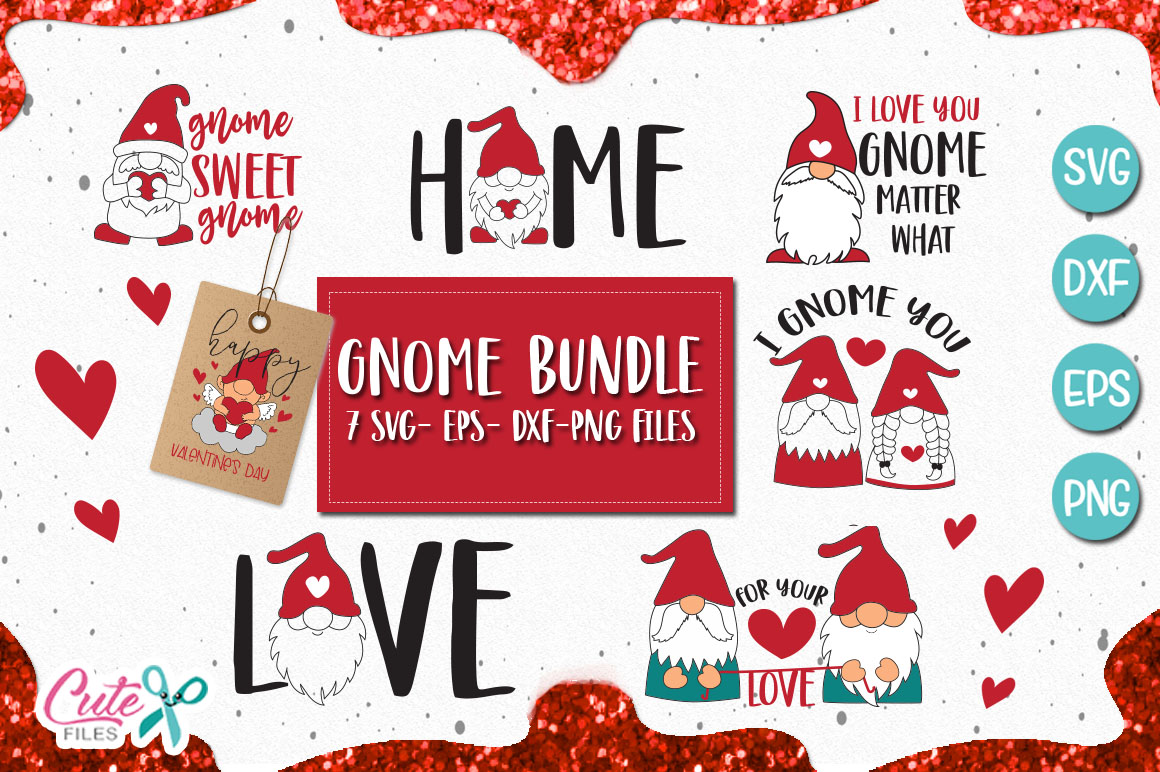 Download Free Gnome Saying Bundle Graphic By Cute Files Creative Fabrica for Cricut Explore, Silhouette and other cutting machines.