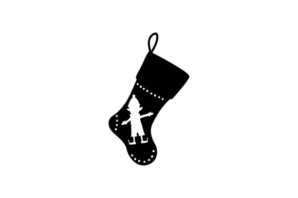 Download Free Christmas Stocking With Elf Svg Cut File By Creative Fabrica SVG Cut Files