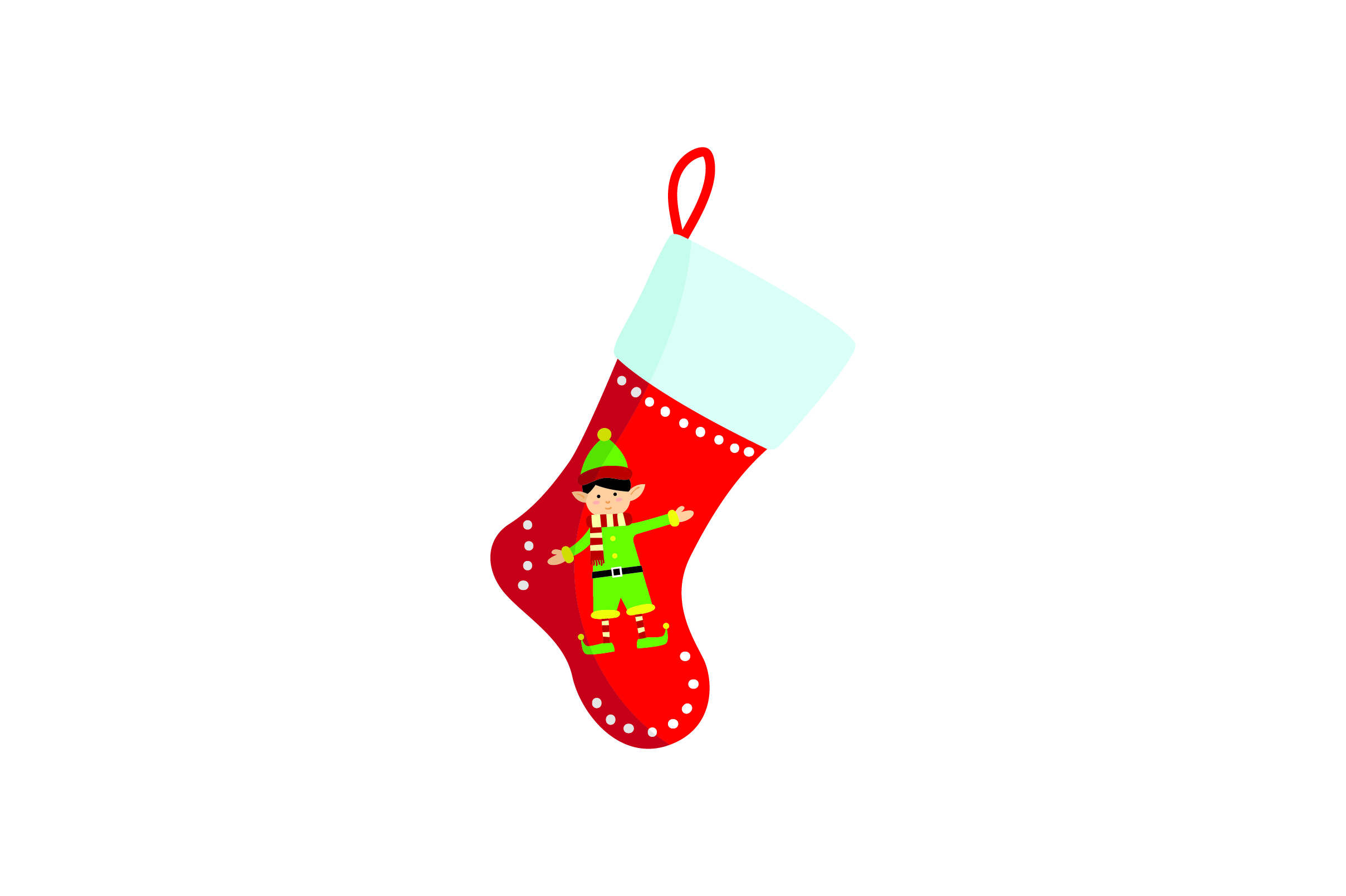 Download Free Christmas Stocking With Elf Svg Cut File By Creative Fabrica for Cricut Explore, Silhouette and other cutting machines.