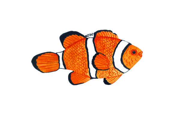 Clownfish - Watercolor Craft Design By Creative Fabrica Crafts