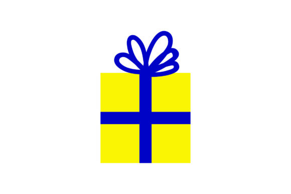 Download Free Yellow Christmas Present With Blue Bow Svg Cut File By Creative for Cricut Explore, Silhouette and other cutting machines.