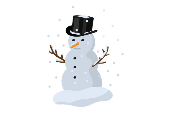 Snowman with Top Hat Craft Design By Creative Fabrica Crafts