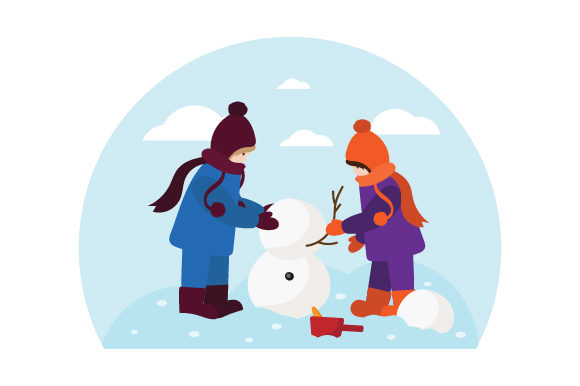 Download Free Kids Making A Snowman Svg Cut File By Creative Fabrica Crafts for Cricut Explore, Silhouette and other cutting machines.