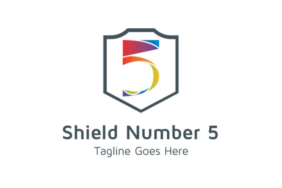 Download Free Shield Number 5 Graphic By Thehero Creative Fabrica for Cricut Explore, Silhouette and other cutting machines.