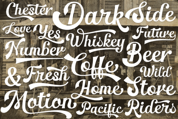 Print on Demand: The Pincher Brothers Family Display Font By Pasha Larin - Image 7