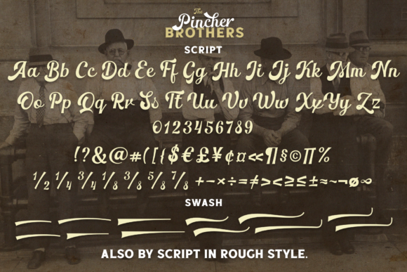 Print on Demand: The Pincher Brothers Family Display Font By Pasha Larin - Image 8