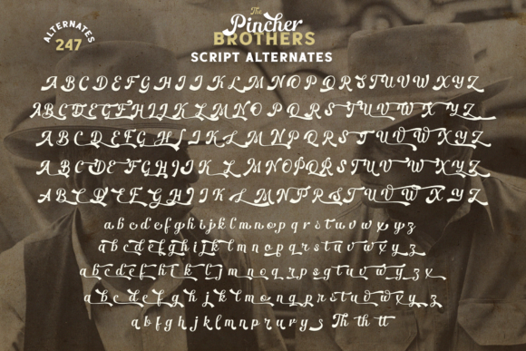 Print on Demand: The Pincher Brothers Family Display Font By Pasha Larin - Image 9