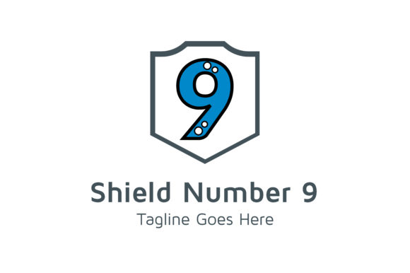 Download Free Shield Number 9 Graphic By Thehero Creative Fabrica for Cricut Explore, Silhouette and other cutting machines.