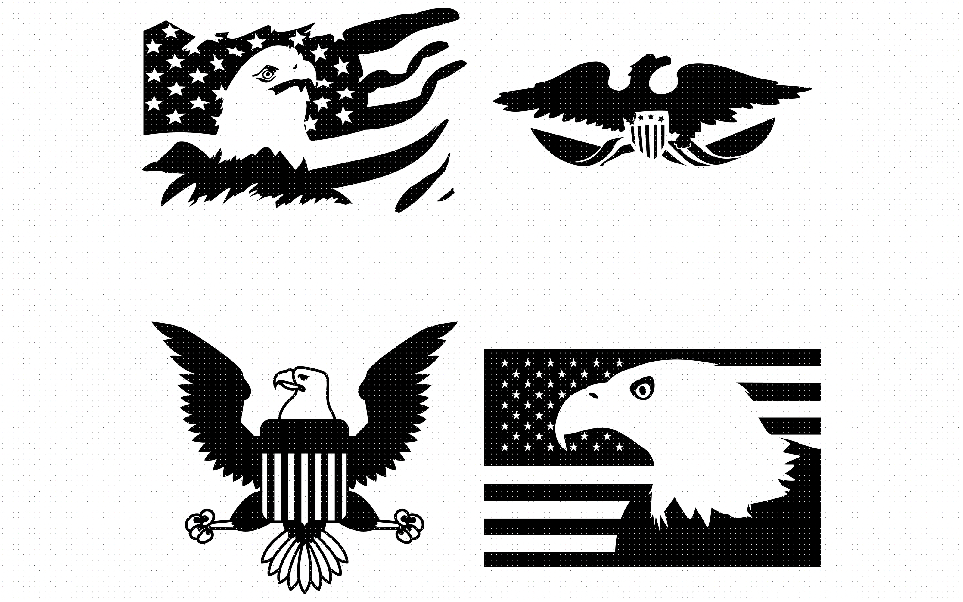 Download Free American Eagle With Flag Graphic By Crafteroks Creative Fabrica for Cricut Explore, Silhouette and other cutting machines.