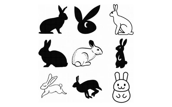Download Free Bunny Rabbit Hare Graphic By Crafteroks Creative Fabrica SVG Cut Files