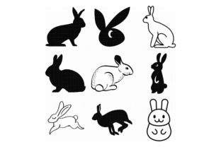 Download Free Bunny Rabbit Hare Graphic By Crafteroks Creative Fabrica for Cricut Explore, Silhouette and other cutting machines.