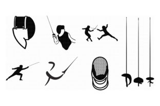 Fencing Foil Epee And Sabre Graphic By Crafteroks Creative