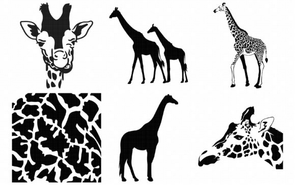 Download Free Giraffe Animal Print Pattern Graphic By Crafteroks Creative for Cricut Explore, Silhouette and other cutting machines.