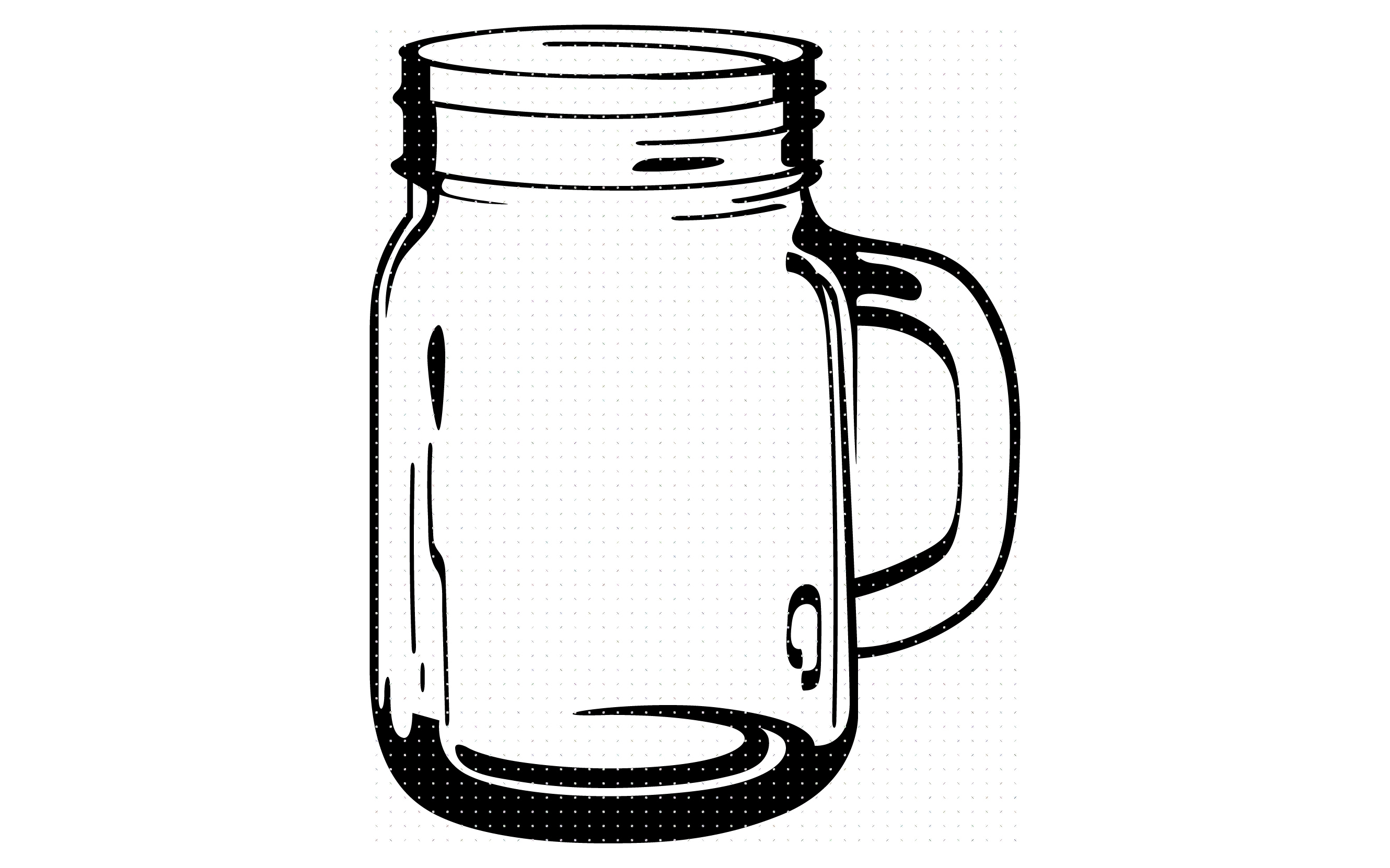 Download Free Glass Mason Jar Graphic By Crafteroks Creative Fabrica for Cricut Explore, Silhouette and other cutting machines.