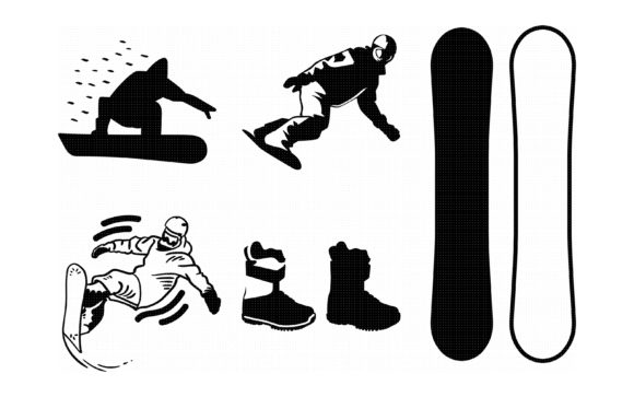 Snowboarding Clipart Graphic By Crafteroks Creative Fabrica