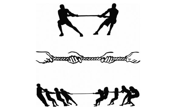 Download Free Tug Of War Graphic By Crafteroks Creative Fabrica for Cricut Explore, Silhouette and other cutting machines.
