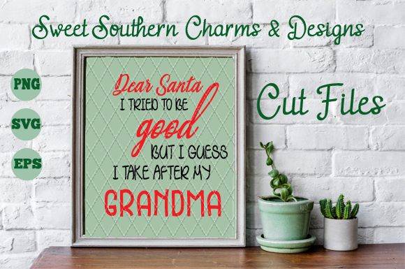 Download Free Dear Santa Graphic By Sweet Southern Charms Creative Fabrica for Cricut Explore, Silhouette and other cutting machines.