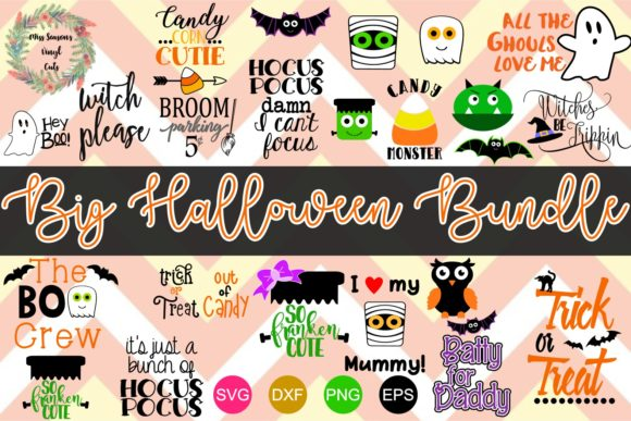 Download Free Big Halloween Bundle 22 Cut Files Graphic By for Cricut Explore, Silhouette and other cutting machines.