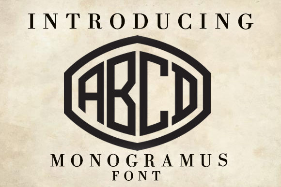 Print on Demand: Monogramus Decorative Font By vladimirnikolic