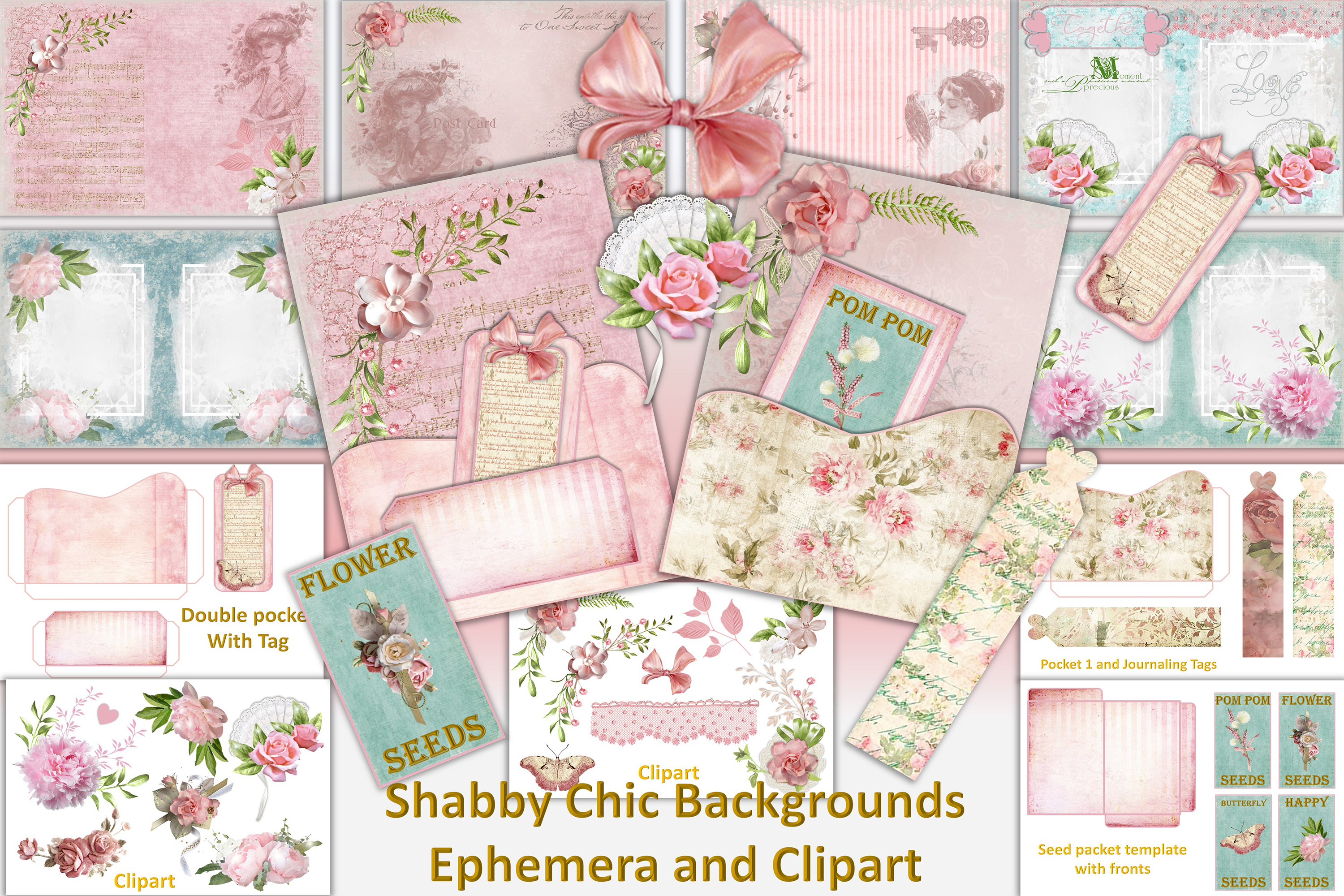 Download Free Shabby Chic Vintage Backgrounds Clipart Graphic By The Paper Princess Creative Fabrica for Cricut Explore, Silhouette and other cutting machines.
