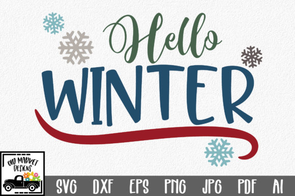 Hello Winter Graphic Crafts By oldmarketdesigns