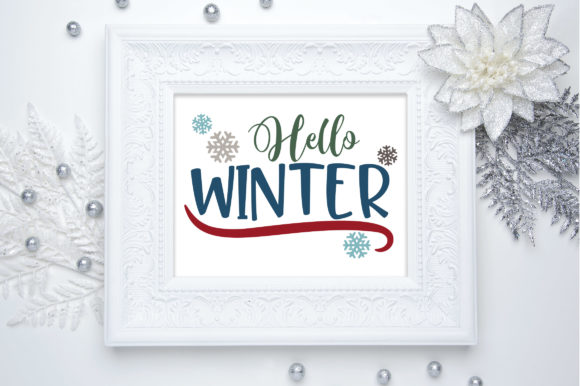 Hello Winter Graphic Crafts By oldmarketdesigns - Image 2