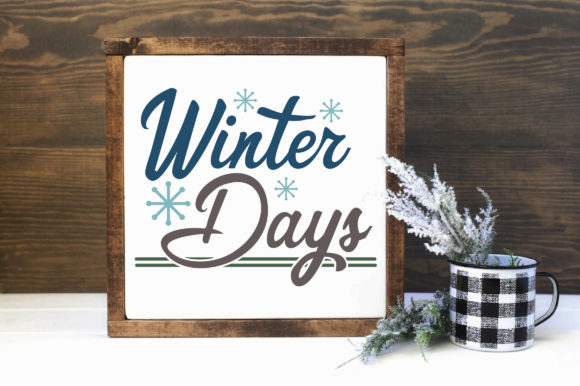 Print on Demand: Winter Days Cut File Graphic Crafts By oldmarketdesigns - Image 2