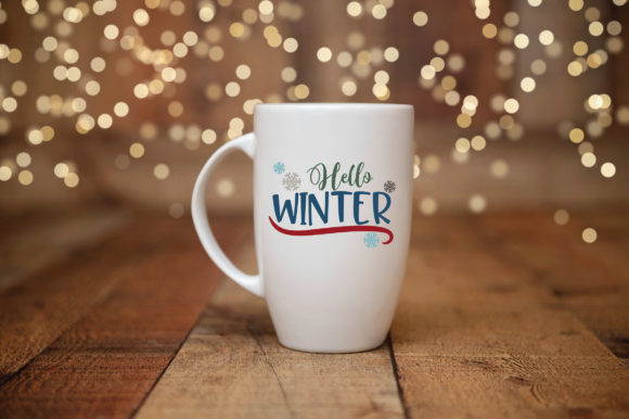 Print on Demand: Hello Winter Graphic Crafts By oldmarketdesigns - Image 3
