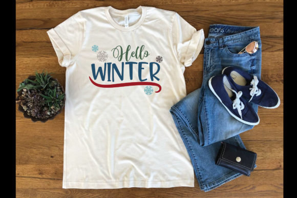 Print on Demand: Hello Winter Graphic Crafts By oldmarketdesigns - Image 4