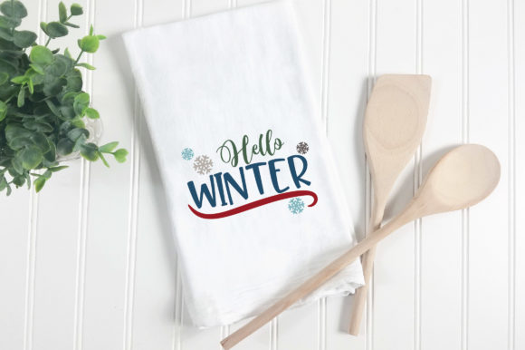 Hello Winter Graphic Crafts By oldmarketdesigns - Image 5