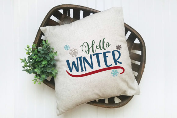 Print on Demand: Hello Winter Graphic Crafts By oldmarketdesigns - Image 6
