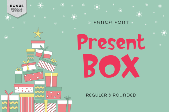 Print on Demand: Present Box Display Font By Regalëy_21