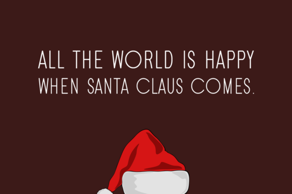 Print on Demand: Santa Display Font By FontEden - Image 2