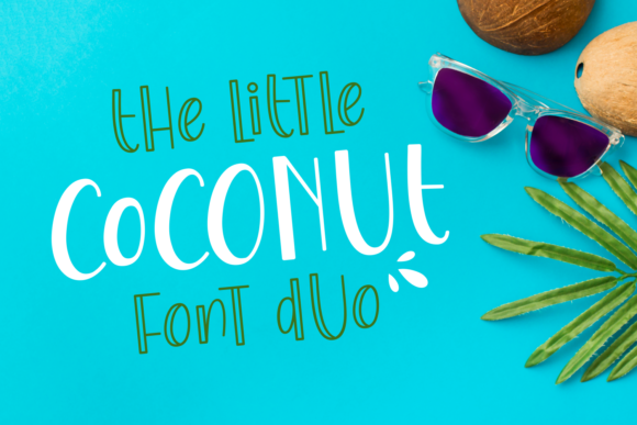 Print on Demand: The Little Coconut Display Schriftarten von Dani (7NTypes)
