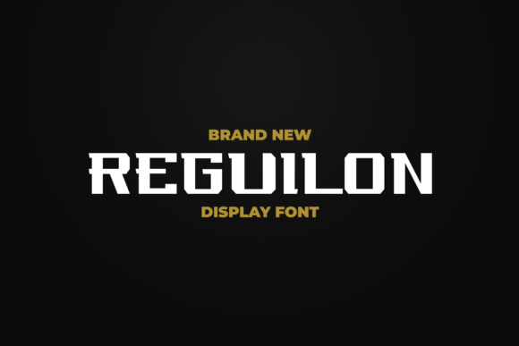 Print on Demand: Reguilon Display Font By ovoz.graphics - Image 1