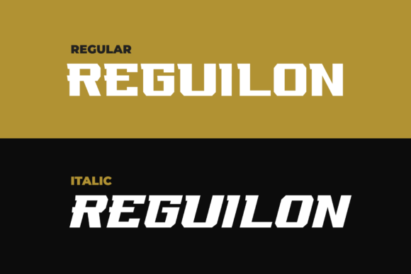 Print on Demand: Reguilon Display Font By ovoz.graphics - Image 9