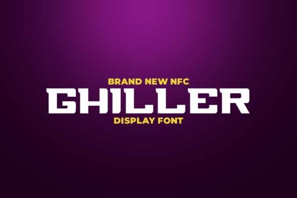 Print on Demand: Chiller Display Font By ovoz.graphics