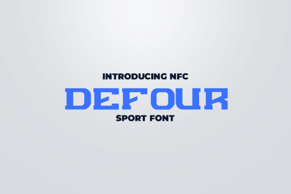 Print on Demand: Defour Display Font By ovoz.graphics
