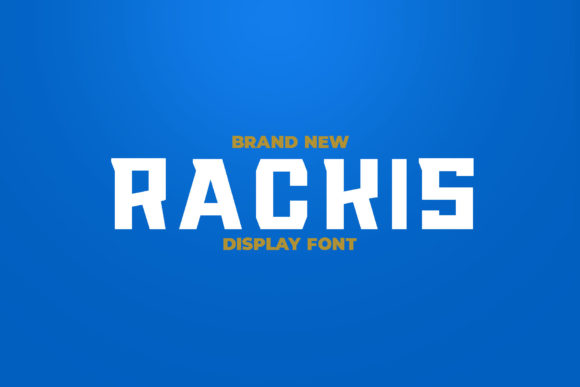 Print on Demand: Rackis Display Font By ovoz.graphics